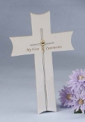 First Communion Cross - Resin/Stone