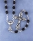 First Communion Black Wood Rosary