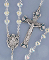 First Communion Crystal Heart Rosary