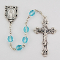 March Aqua Birthstone Rosary