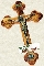 Crucifix - Olivewood with Relic