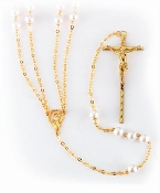 Gold & Pearl Lasso Rosary