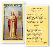 St. Barbara Holy Card
