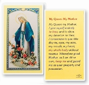 My Queen My Mother Holy Card